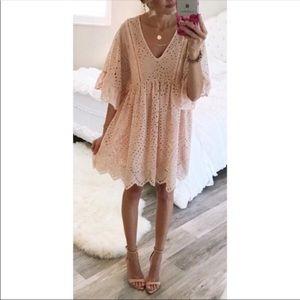 Anthropologie Akemi Kin Brooke Eyelet Pink Dress 2